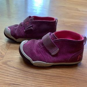 Plae Pink High Top Velcro Toddler Shoes